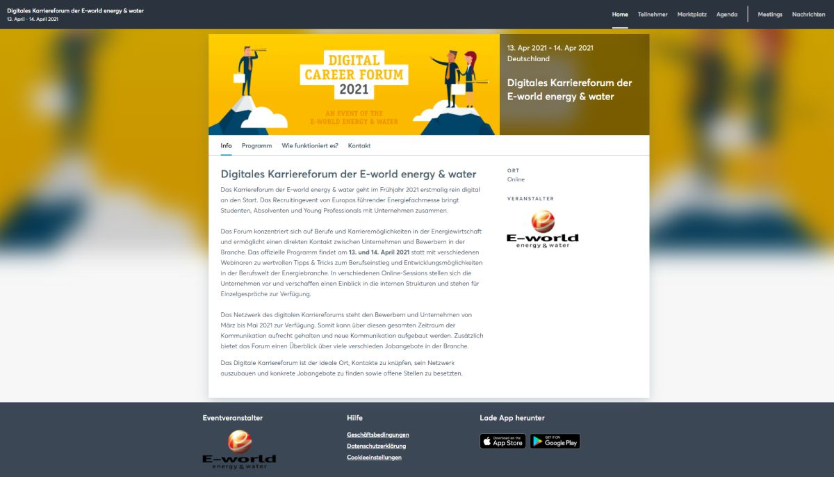 E-world energy & water lädt erstmals zum digitalen Karriereforum ein